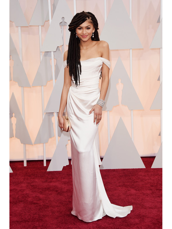 Zendaya at the 2015 Oscars : Courtesy of Hollywoodlife.com.  Photo by Jason Merritt/Getty Images